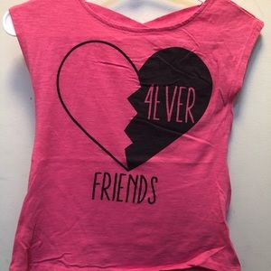 🌈Adorable pink shirt with back upper straps🌈